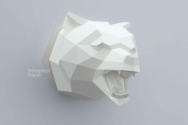 2D Bear Head Template RUS/ENG