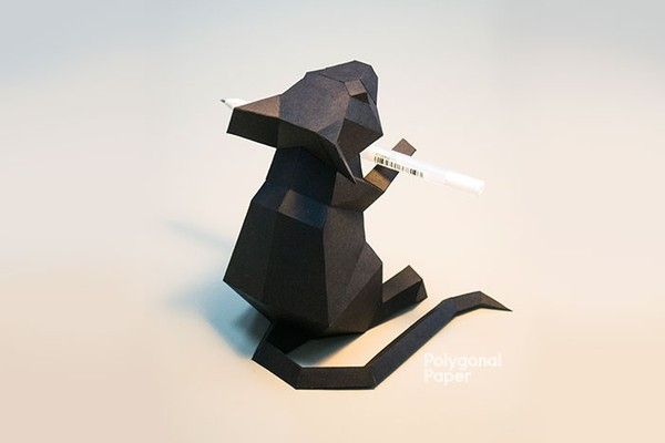 Mouse: Digital Files for Papercraft