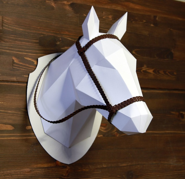 2D Horse Head Template DIY