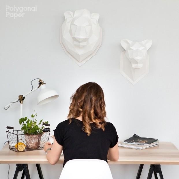 2D Lioness Head Template RUS/ENG/ESP/FRA