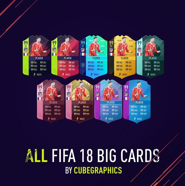 ALL FIFA 18 BIG CARDS
