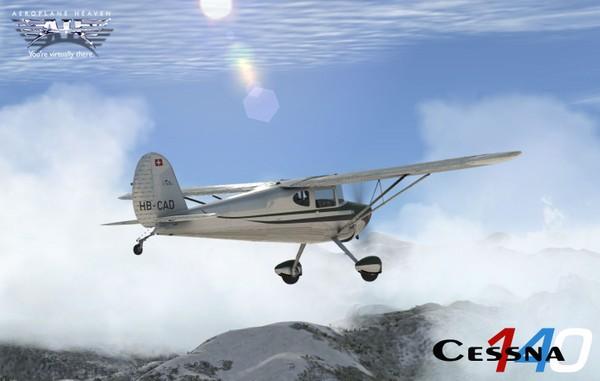 Aeroplaneheaven Cessna 140 - FSX/P3DV3/P3DV4.3 ( non PBR )