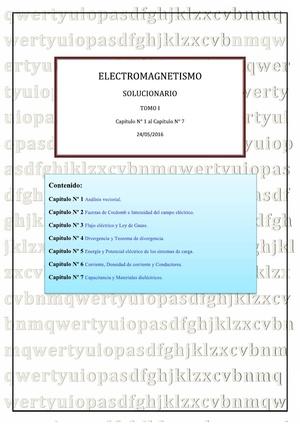 Solucionario de Electromagnétismo de Joseph A. Edminister - TOMO I