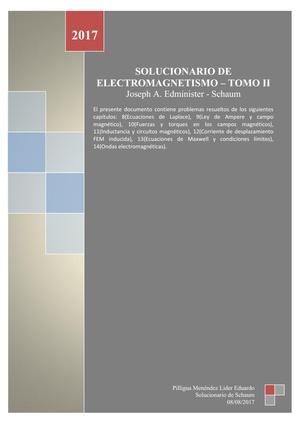 Solucionario de Electromagnétismo de Joseph A. Edminister - TOMO II