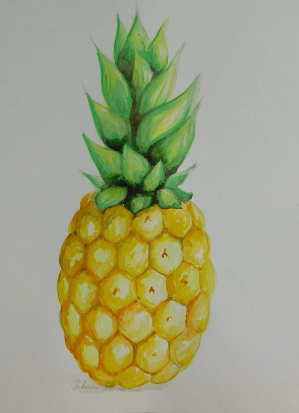 Pineapple Watercolor Tutorial
