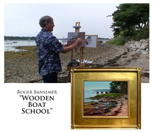 Wooden Boat School - Painting demonstration by Roger Bansemer