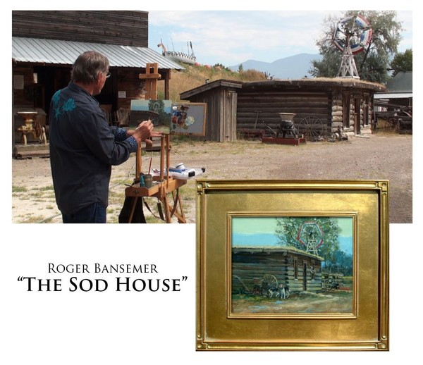 The Sod Roofed House - Painting demonstration by Roger Bansemer