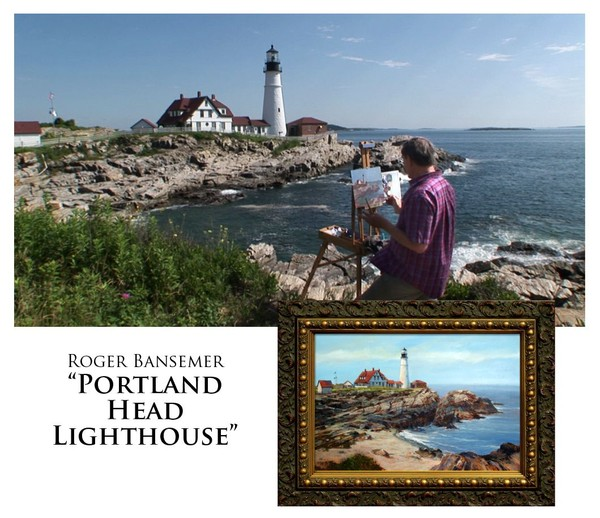 Portland Head Lighthouse - Painting demonstration by Roger Bansemer