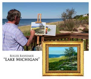 Lake Michigan - Painting demonstration by Roger Bansemer
