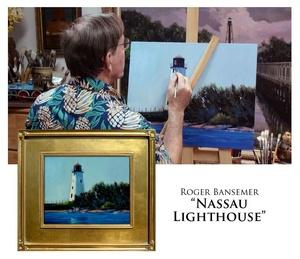 The Nassau Lighthouse - Painting demonstrtion by Roger Bansemer