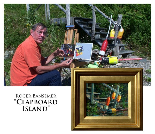 Clapboard Island - Painting demonstration by Roger Bansemer