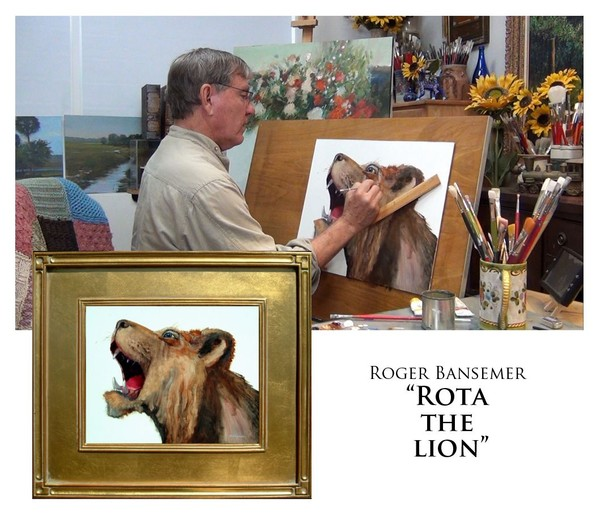 Rota the Lion - Painting demonstration by Roger Bansemer