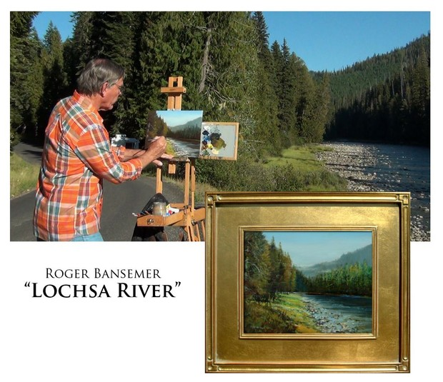 Lochsa River - Painting demonstration by Roger Bansemer