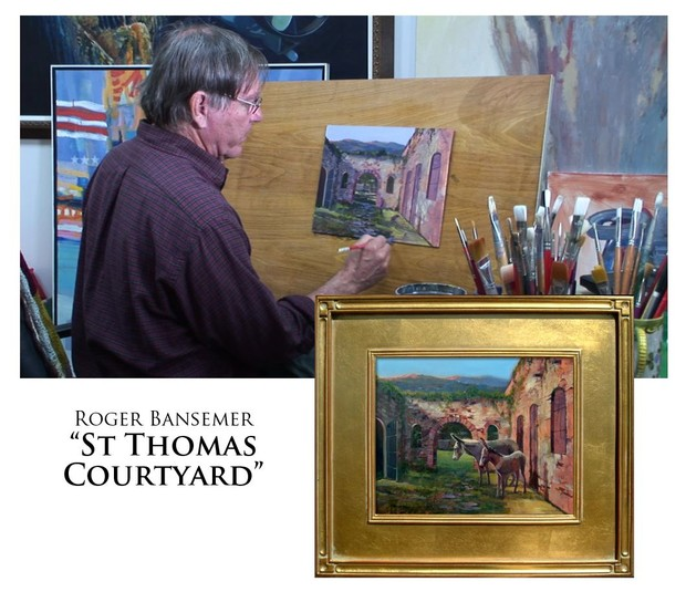 St. Thomas Courtyard - Painting demonstration by Roger Bansemer