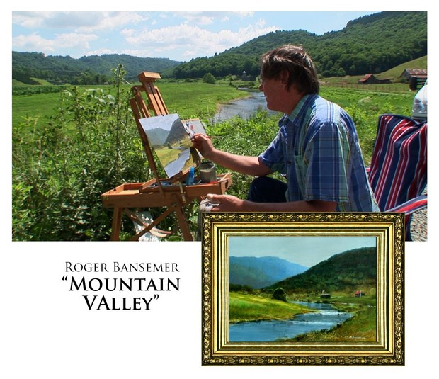 Mountain Valley - Painting demonstration by Roger Bansemer
