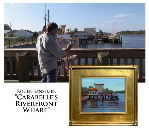 Carabelle's Riverfront Wharf - Painting demonstration by Roger Bansemer