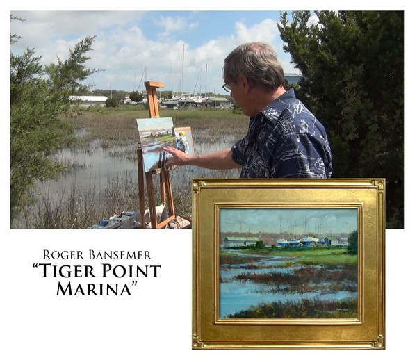 Tiger Point Marina - Painting demonstration by Roger Bansemer