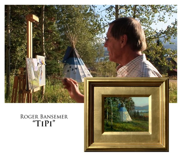 TeePee - Painting demonstration by Roger Bansemer