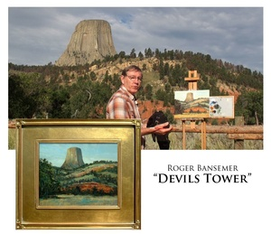 Devils Tower - Painting demonstration by Roger Bansemer