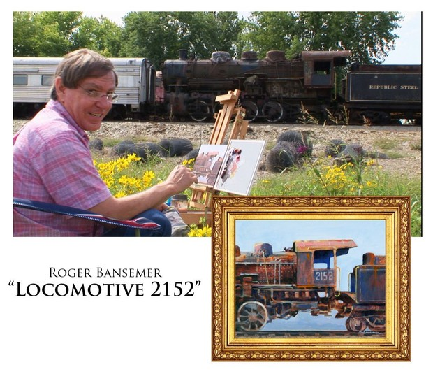 Locomotive 2152 - Painting demonstration by Roger Bansemer