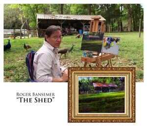 The Shed - Painting demonstration by Roger Bansemer