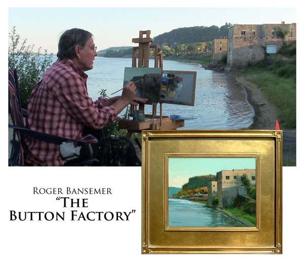 The Button Factory - Painting demonstration by Roger Bansemer