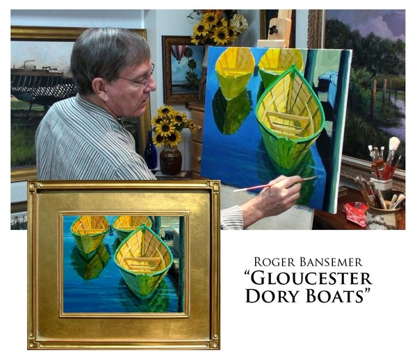 Gloucester Dory Boats - Painting demonstration by Roger Bansemer