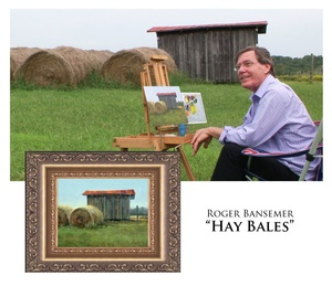 Hay Bales - Painting demonstration by Roger Bansemer