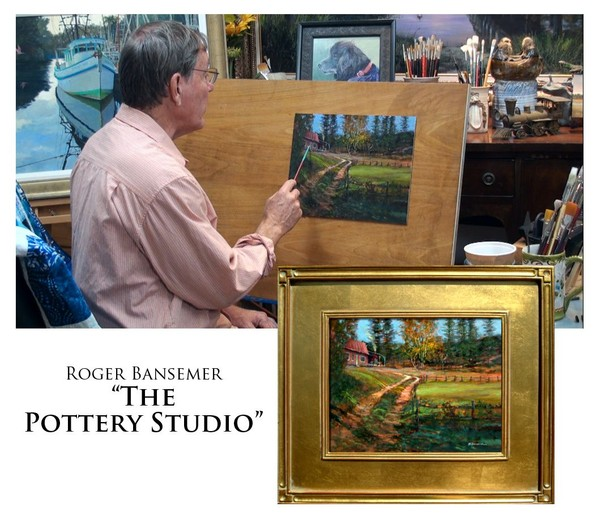The Pottery Studio - Painting demonstration by Roger Bansemer