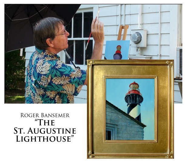 St. Augustine Lighthouse - Painting demonstration by Roger Bansemer