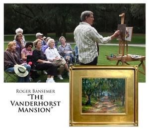 Vanderhorst Plantation - Painting demonstration by Roger Bansemer
