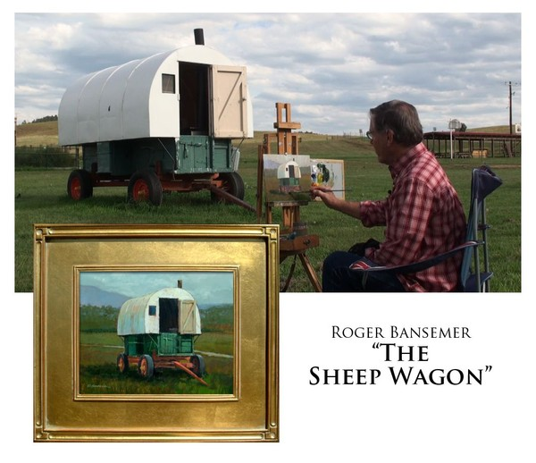 The Sheep Wagon - Painting demonstration by Roger Bansemer