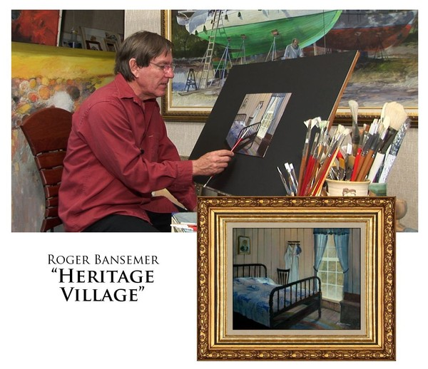 Heritage Village - Painting demonstration by Roger Bansemer