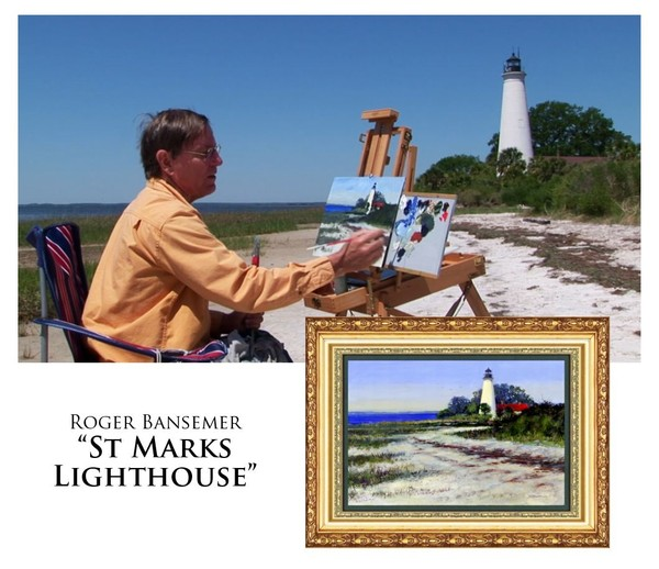 St. Marks Lighthouse - Painting demonstration by Roger Bansemer