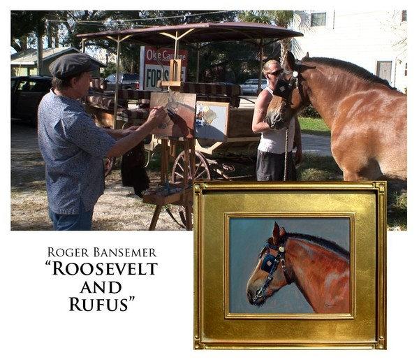 Roosevelt and Rufus - Painting demonstration by Roger Bansemer