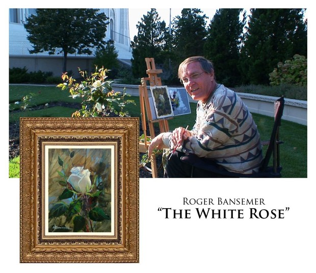 The White Rose - Painting demonstration by Roger Bansemer