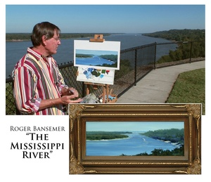 The Mississippi River - Painting demonstration by Roger Bansemer