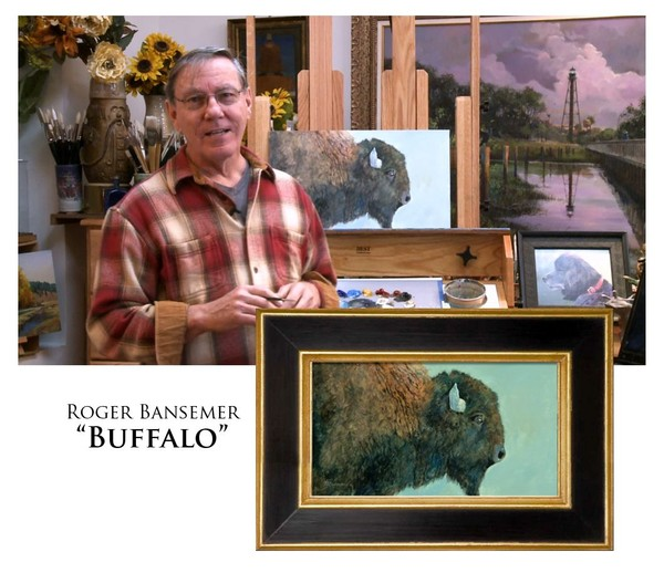 Buffalo - Painting demonstration by Roger Bansemer