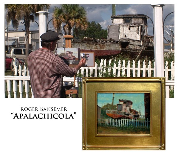 Historic Apalachicola - Painting demonstration by Roger Bansemer