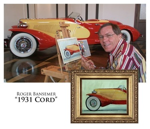 1931 Cord - Painting demonstration by Roger Bansemer