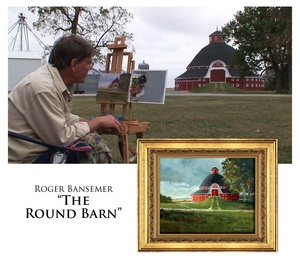 The Round Barn - Painting demonstration by Roger Bansemer