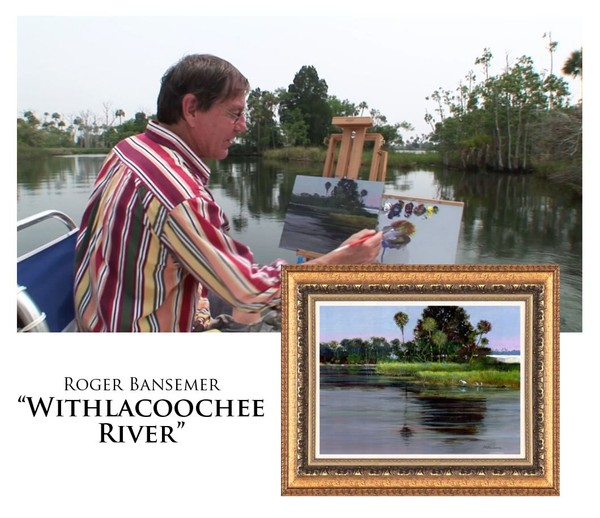 Withlacoochee River - Painting demonstration by Roger Bansemer