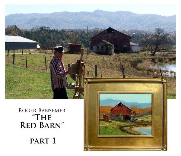 The Red Barn - PART 1 - Painting demonstration by Roger Bansemer