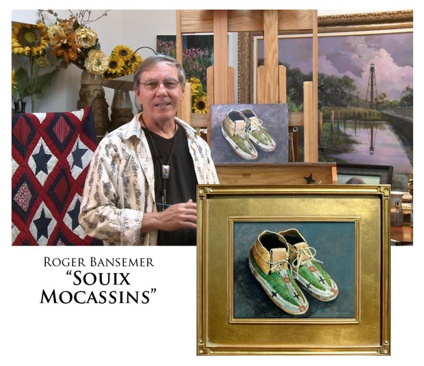 Souix Moccasins - Painting demonstration by Roger Bansemer