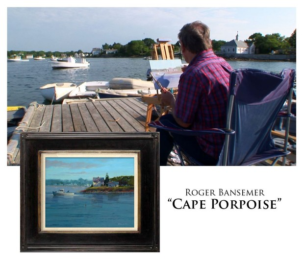Cape Porpoise - Painting demonstration by Roger Bansemer