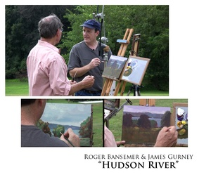 Hudson River - Painting demonstration by Roger Bansemer & James Gurney