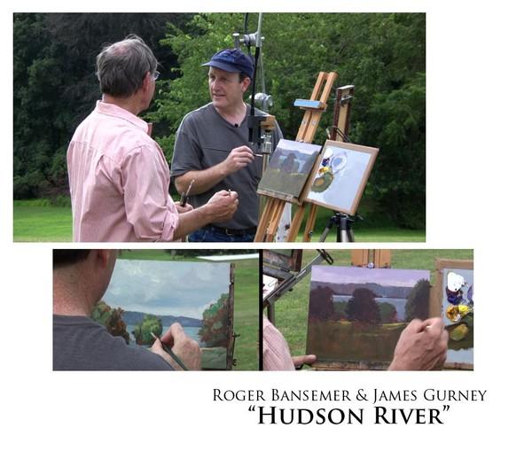 Hudson River - Painting demonstration by Roger Bansemer & James Gurney