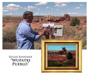 Wupatki Pueblo - Painting demonstration by Roger Bansemer