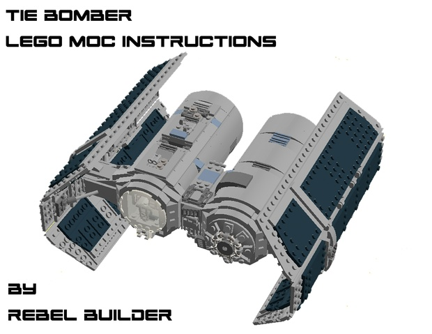 LEGO TIE Bomber MOC Instructions by Rebel Builder