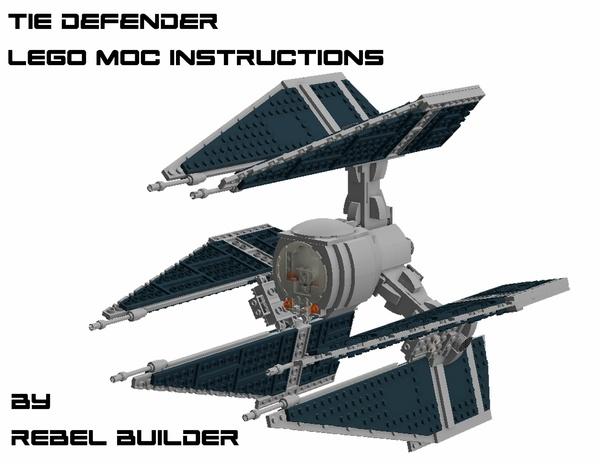 LEGO TIE Defender Instructions by Rebel Builder